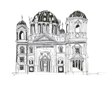 Berlin Cathedral, Pen on Paper