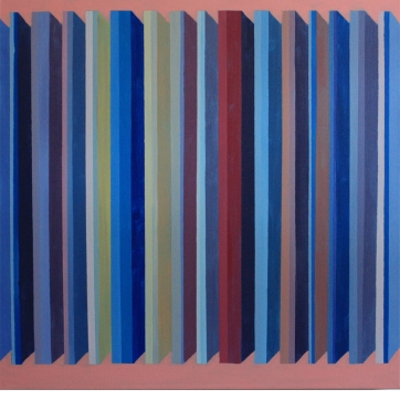 Colonnade II, 2015, Oil on Canvas, 30″x30″