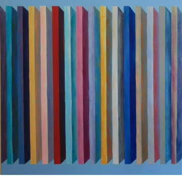 Colonnade I, 2015, Oil on Canvas, 30″x30″