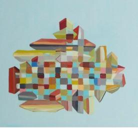 """Floorplan, 2014, Oil on Canvas, 30"""" x 24"""""""