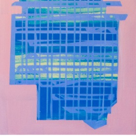 """Lattice, 2014, Oil on Canvas, 20"""" x 24"""""""