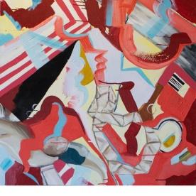 """Pastiche, 2014, Oil on Canvas, 36"""" x 36"""""""
