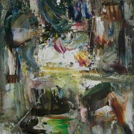 Deep Space (II), 2014, Acrylic on Canvas 16″x20″