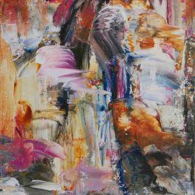 Deep Space (I), 2014, Acrylic on Canvas 16″x20″