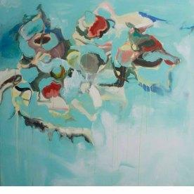 Be Still (I), 2014, Oil on Canvas 48″ x 48″