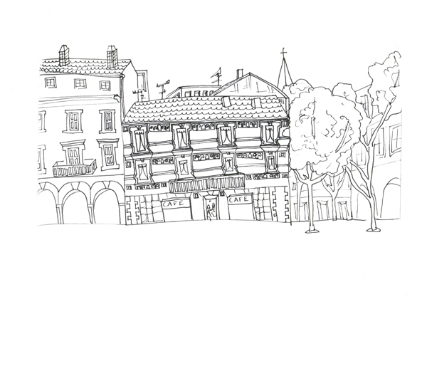 Nimes House, , Pen on Paper