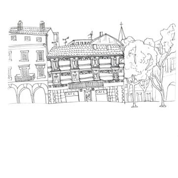 Nimes House, , Pen on Paper