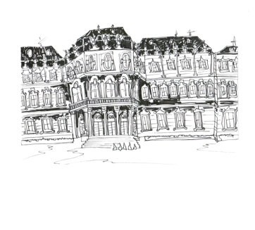 Vienna Belvedere Palace, Pen on Paper