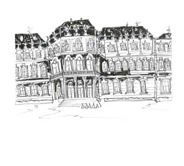 Vienna Belvedere Palace, Pen on Paper