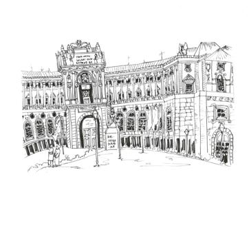Vienna Hamburg Palace, Pen on Paper