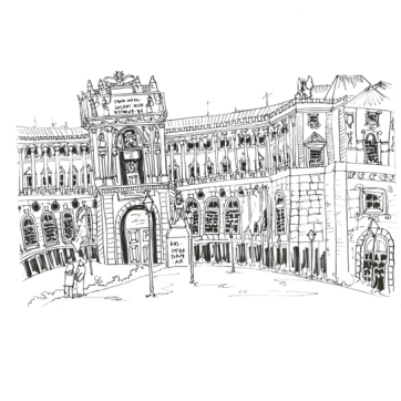 Vienna Hamburg Palace, Pen on Paper