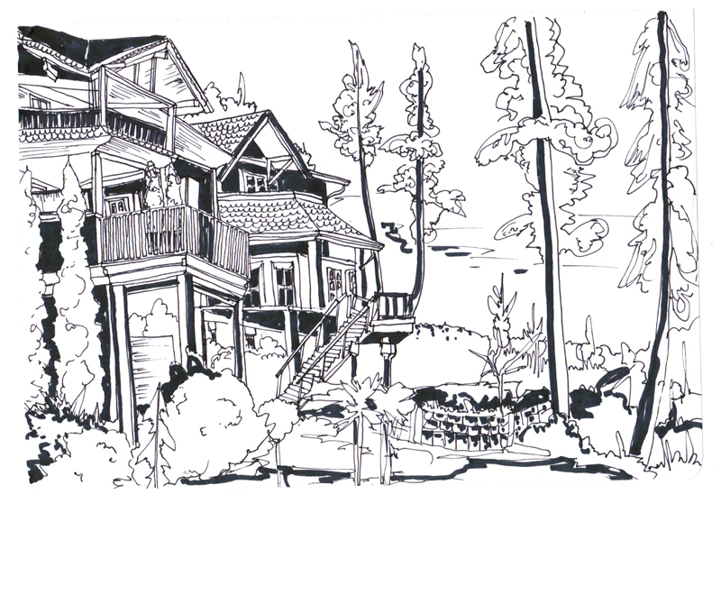 North Shore, Pen on Paper