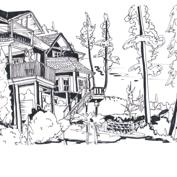 North Shore, Pen on Paper