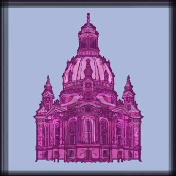 Dresden Church, Digital Drawing