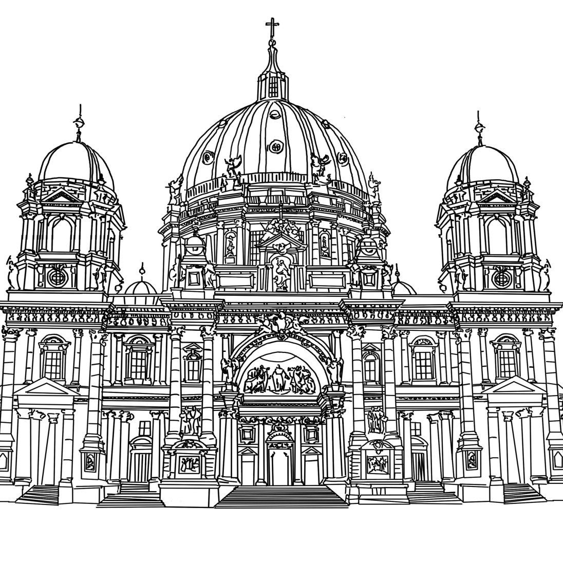 Berlin Cathedral, Digital Drawing