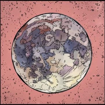Jupiter's Moon, Digital Drawing