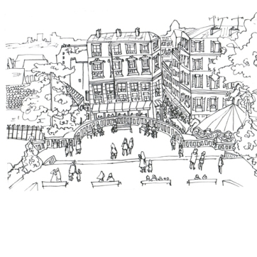 Paris Montmartre, Pen on Paper