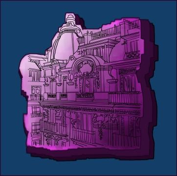 Paris Street, Digital Drawing