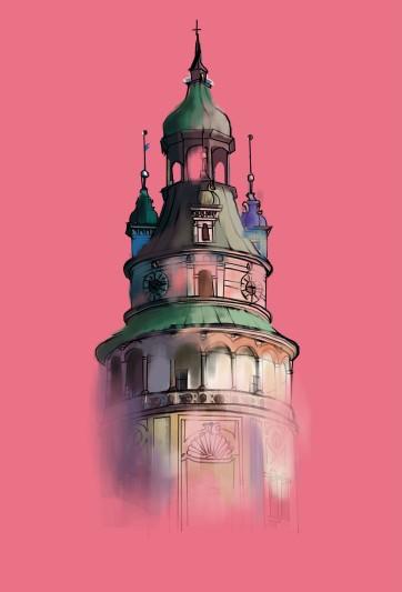 Prague Tower, Digital Drawing