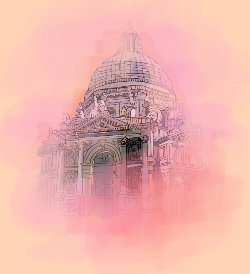 Santa Maria Della Salute, Digital Drawing