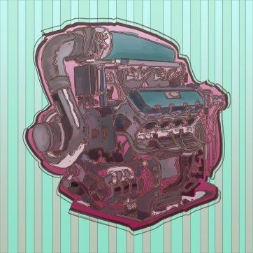 Pink Engine, Digital Drawing