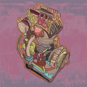 Psychadelic Engine, Digital Drawing