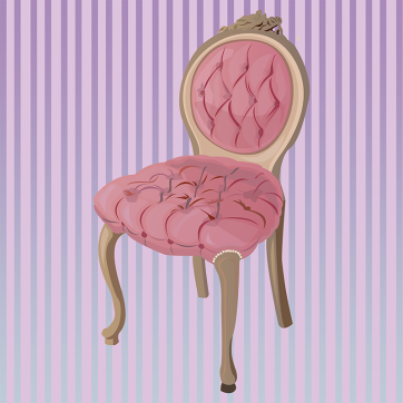 Pink Chair, Vector Drawing