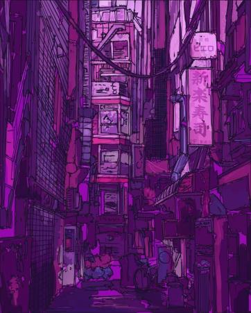 Tokyo Street, Digital Drawing