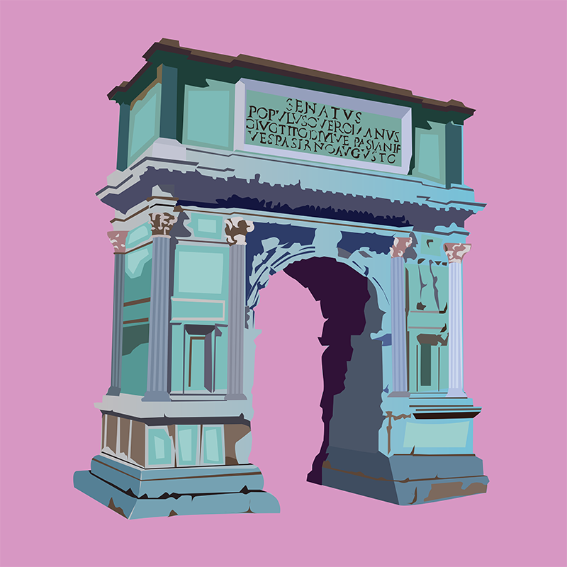 Arch of Titus, Vector Drawing