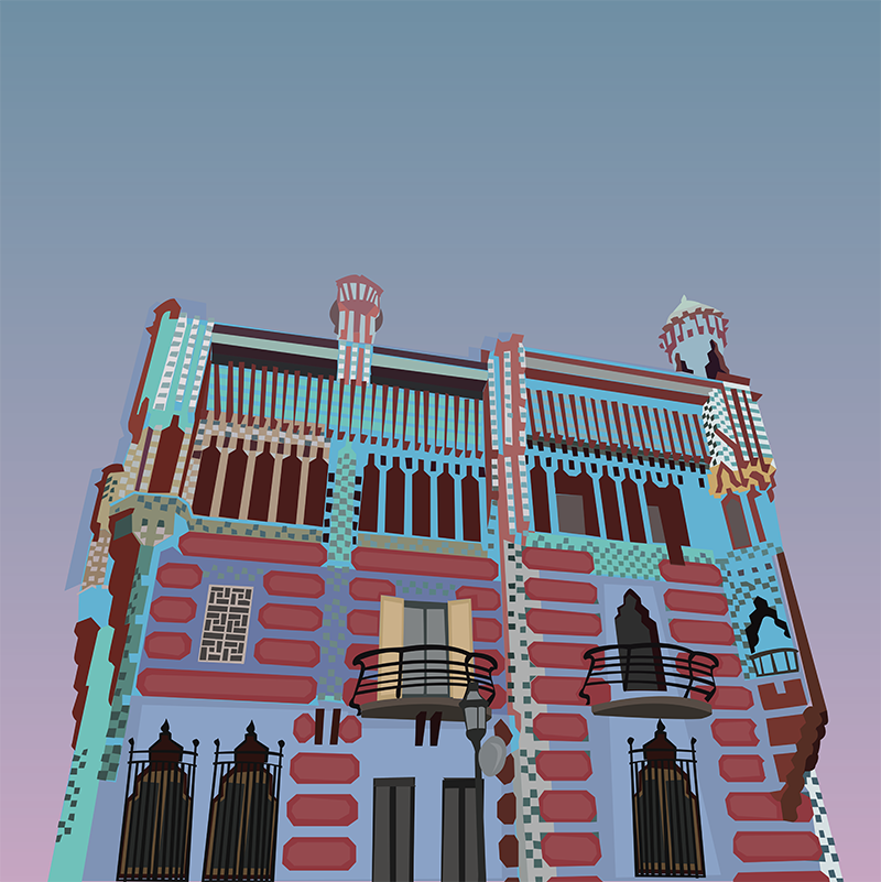 Casa Vicens, Vector Drawing