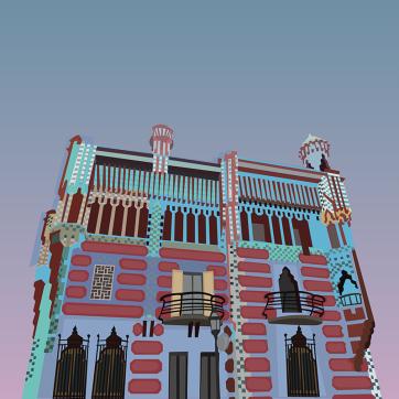 Casa Vicens, Vector Drawing