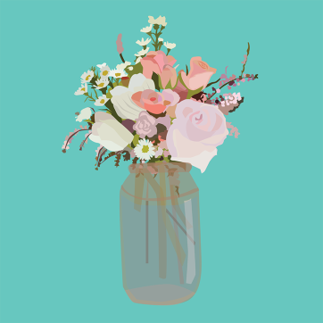 Bouquet, Vector Drawing