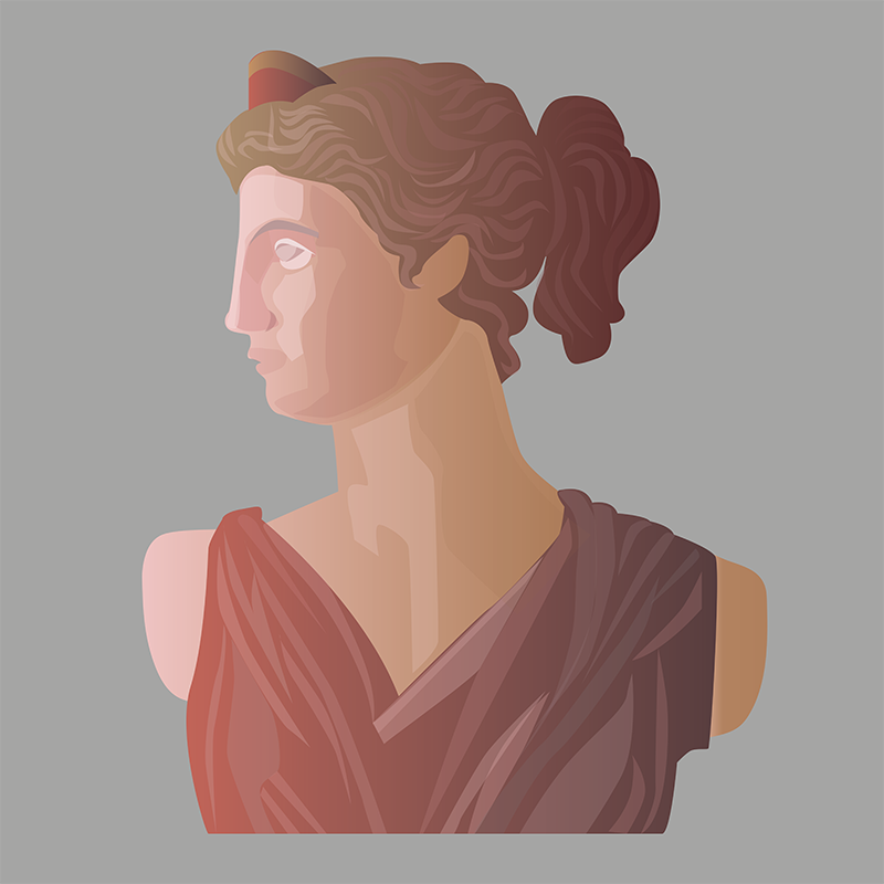 Goddess, Vector Drawing