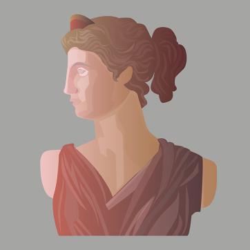 Goddess, Vector Drawing