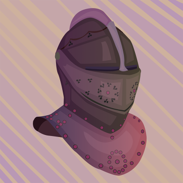 Knight's Helm, Vector Drawing