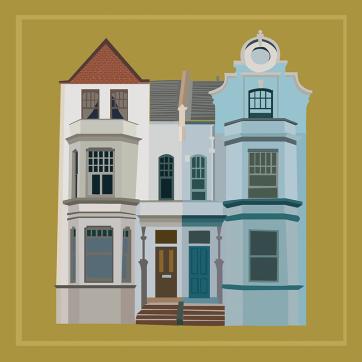 Soho House, Vector Drawing