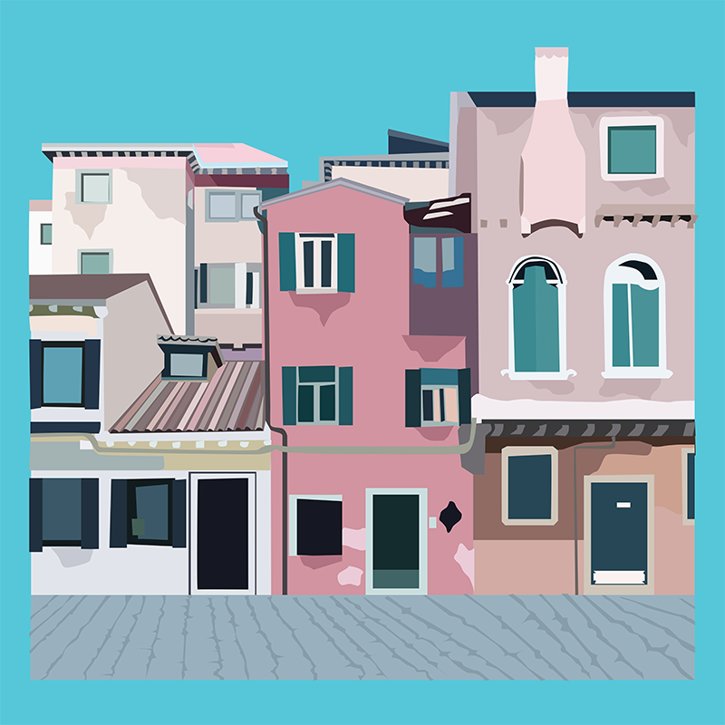 Street View, Vector Drawing