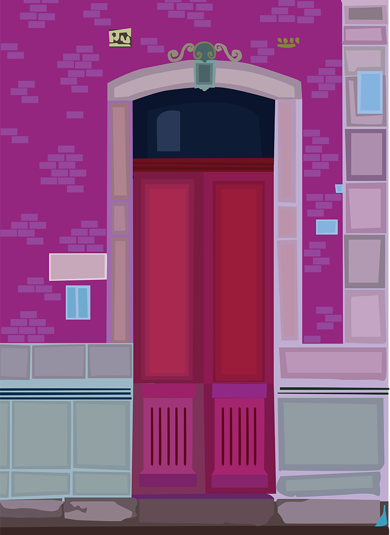 Red Door, Vector Drawing