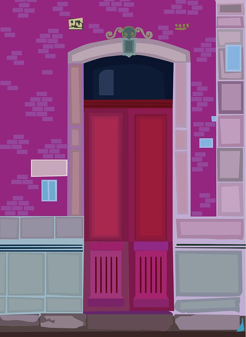 Red Door, Vector Drawing