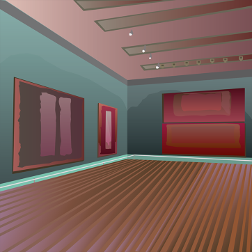 The Tate's Rothko Room, Vector Drawing