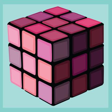 Rubik's Cube, Vector Drawing
