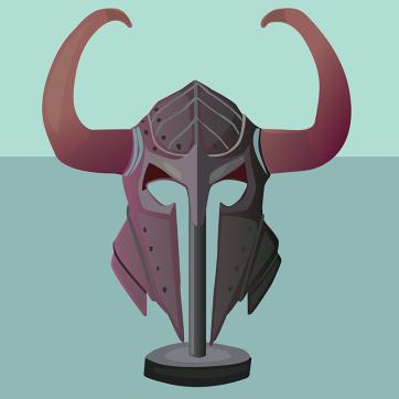 Viking Helmet, Vector Drawing