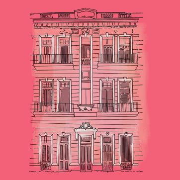 Havana on Pink, Digital Drawing